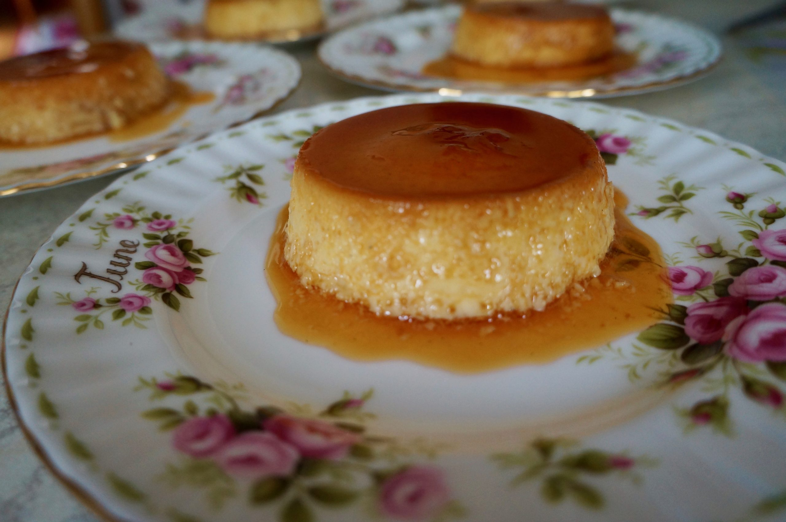 Flan with sweet concentrated milk